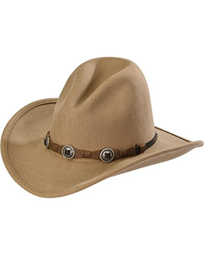 Silverado Men's Gus Crushable Wool Western Hat Taupe Medium
