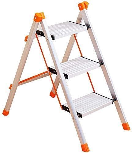 YZjk Taburete Plegable, fácil y multifunción, Plegable, Taburete Plegable de 3 escalones sin asa, Escalera Ligera de Aluminio con Escalera Antideslizante y Resistente para el hogar (Carga 120 kg): Amazon.es: Hogar