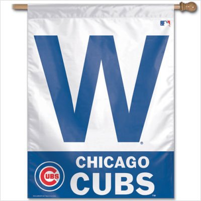 MLB Chicago Cubs 27-by-37-Inch Vertical Flag-W Logo Chicago Cubs Vertical Flag