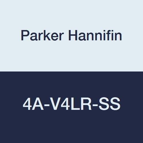 Parker Hannifin 4A-V4LR-SS Series V Stainless Steel General Purpose Needle Valve, Blunt Stem Type, PTFE Stem Seal, 1/4'' Compression A-LOK Inlet, 1/4'' Compression A-LOK Outlet