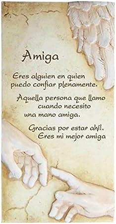 Framan PERGAMINO DE Piedra LABRADA con Textos para Ocasiones Especiales, Ideal para Regalo Original Y ECONÓMICO. Especial Amiga