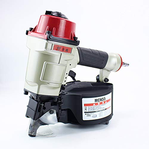 BAOSHISHAN Pneumatic Coil Roofing Nailer Air Nailing Gun (Nail Length:63/64Inch to 2-1/4Inch,25mm-57mm) CN55