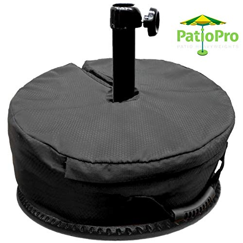 "PatioPRO 17"" Umbrella Base Weight Bag -Elegantly Designed Safety Outdoor Patio Weatherproof Sand Bag - Easy Set Up, Fits All Outdoor Umbrellas, Cantilevers, Lamps, Flag Poles with Diameter 3"" to 3.5"""