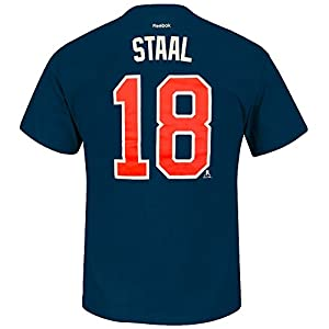 Eric Staal New York Rangers NHL Reebok Men Navy Blue Player Name & Number Jersey T-Shirt