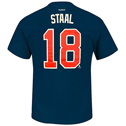(Eric Staal New York Rangers NHL Reebok Men Navy Blue Player Name & Number Jersey T-Shirt (2XL))