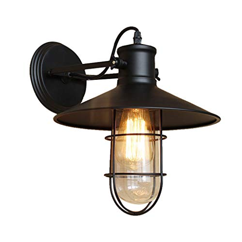 Lighting Industrial Vintage Style 1 Light Wall Sconces Ceiling Lamp Antique Metal Copper Nautical Wall Sconce Wall Light Lamp Fixture with Cage Use E27 Bulb