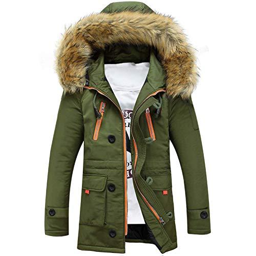 a1SCOJSOIs. Parkas Men Winter Men's Coats Male Outerwear Fur Collar Casual Long Cotton Hooded ()