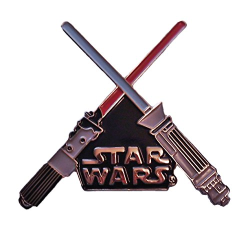 Obi Wan Kenobi Adult Clone Wars Costumes (Star Wars Crossed Lightsabers Enamel Metal PIN)