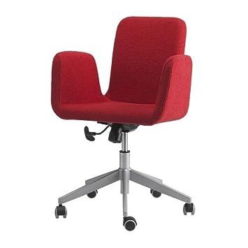 IKEA PATRIK - Silla giratoria, Fagrabo roja: Amazon.es: Hogar