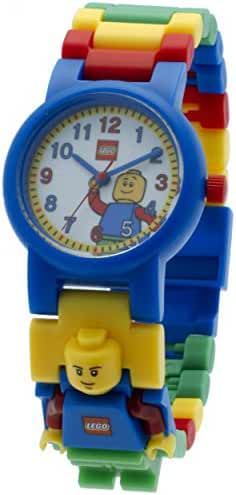 LEGO Classic Kids Minifigure Link Buildable Watch | black/yellow | plastic | 28mm case diameter| analog quartz | boy girl | official