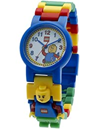 Classic 8020189 Kids Minifigure Link Buildable Watch | black/yellow | plastic | 28mm case diameter| analog quartz | boy girl | official
