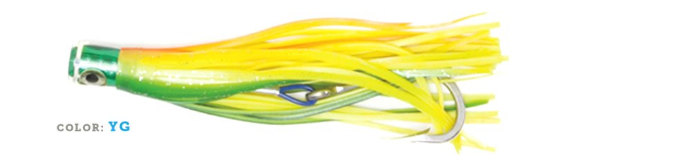 H2OPRO Artificiale TRAINA Octopus CM20 MAHI Mouthful Color Yellow Green