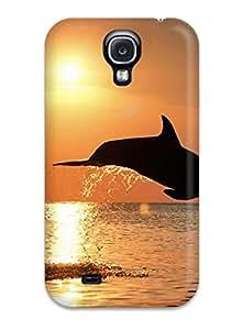 Rachel Kachur Bordner's Shop Best High-quality Durable Protection Case For Galaxy S4(dolphins)
