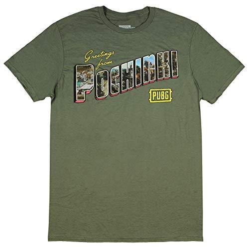 Bioworld PUBG Shirt Mens Playerunknowns Battlegrounds Greetins from Pochinki T-Shirt