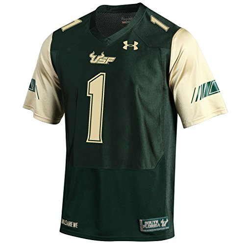Under Armour NCAA South Florida Bulls Childrens Official Sideline Jersey, XX-Large, Dark Green