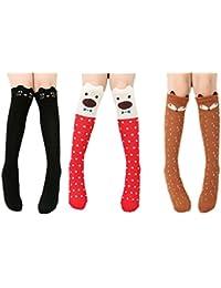 Cartoon Knee-high Long Socks Cable-knit School Uniform Socks Cosplay Socks, 3 Colors, One Size