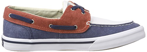 62 Sperry Navy II Washed Uomo Scarpe Wht Boat Navy Bahama Barca Blu Red da qqCO61r