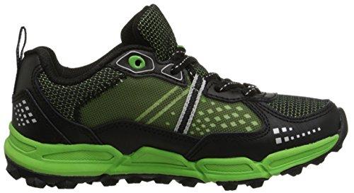 Teva Escapade Low Athletic Trail Shoe (Little Kid/Big Kid) Black/Neon Green