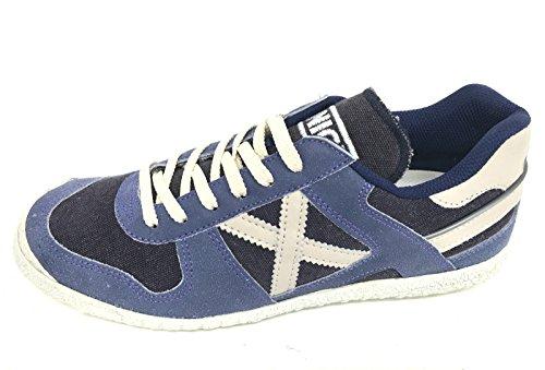 Munich - Zapatillas de Piel para hombre azul BLU SUGAR
