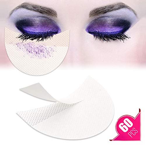 (TailaiMei 60 Pcs Eyeshadow Shield for Prevent Makeup Residue, Eye Pad for Eyelash Extensions/Perming/Tinting and Lip Makeup - Lint Free Under Patches Prevent Raccoon Eyes)