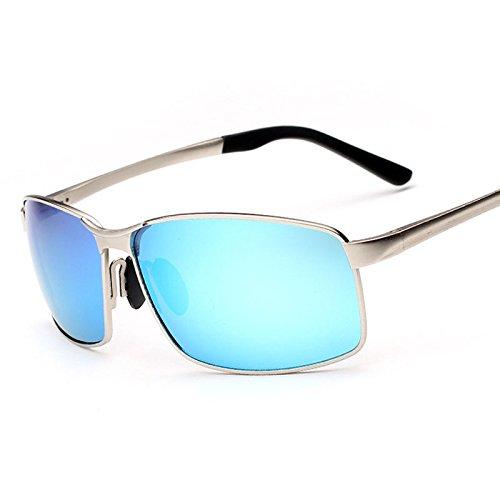 de retrovisor TIANLIANG04 sol para La de cristal sol del Blu masculina color macho hombre gafas plata recubrimiento moda polarizadas de gafas rIIqwFO
