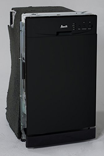18' Built-In Dishwasher Finish: Black