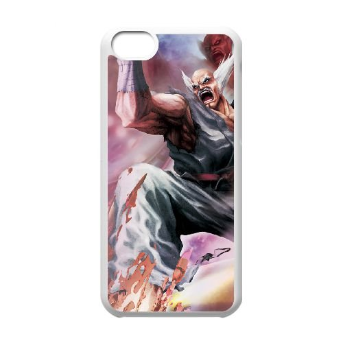 Street Fighter X Tekken 22 coque iPhone 5c cellulaire cas coque de téléphone cas blanche couverture de téléphone portable EEECBCAAN03689