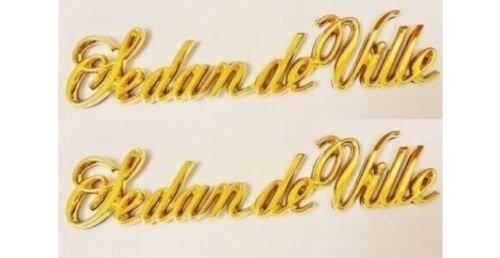 BDC Cadillac Sedan DEVILLE Gold Script Emblem