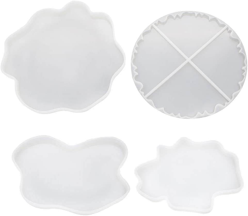 Irregular Coaster Cup Mat Silicone Mould for Resin Manual Mirror ...