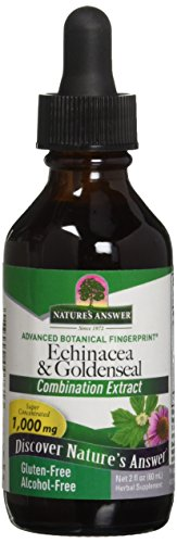 - Nature's Answer Alcohol-Free Echinacea and Goldenseal, 2-Fluid Ounces