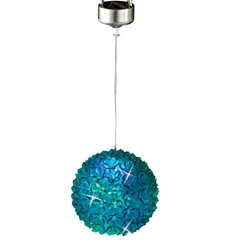 Solar Changing Hanging Flower Multi Colored