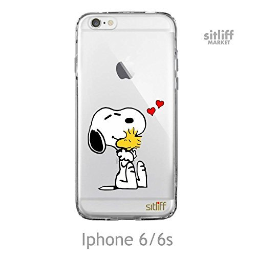 buy online b622a e6ab9 Transparent Case Snoopy hearts Iphone 6 / 6s case by sitliff
