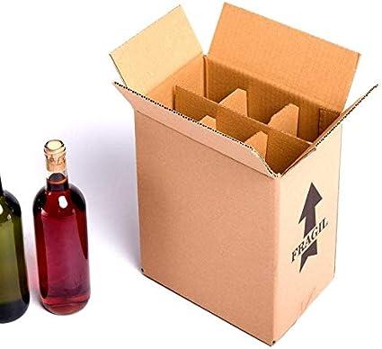 15x) Caja para botellas de vino CON separadores de cartón rejilla | TELECAJAS (Para 6 botellas) (PACK DE 15 UNIDADES): Amazon.es: Oficina y papelería
