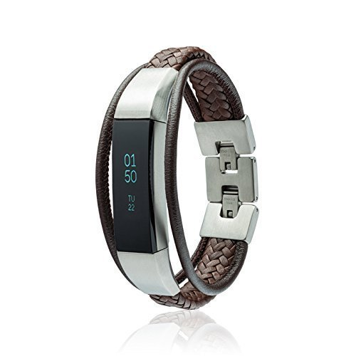 b65fc090c83d Fitbit Alta - Alta HR -Jewelry - Aurel - Brown - stainless steel and real