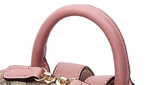 Sac De À JIUSHIGUANG Sac Déperlant Voyage Grand Rose Femme pour Dos Rivets Hydrofuge De Sacs Mode PVC Portés Dos en qrZw7qnI