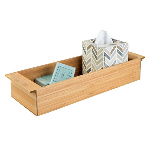 InterDesign Formbu Wood Toilet Tank Top Storage Tray