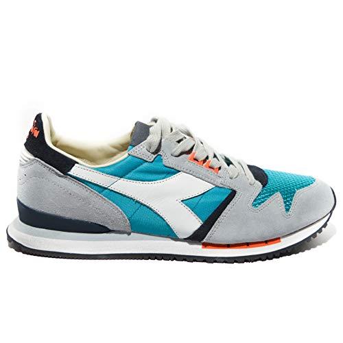 Nuovo Heritage Art Diadora Grigio Pelle c5150 Uomo azzurro Sneakers Exodus nwpFqP