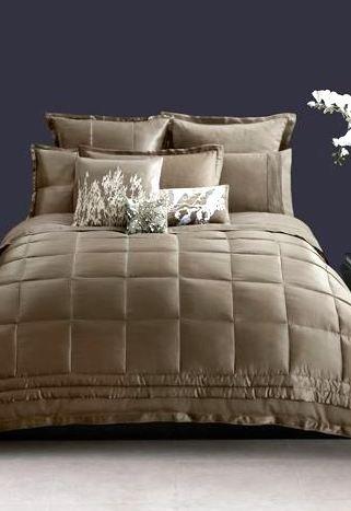 Donna Karan Frame (Donna Karan Home The Modern Classics Collection Silk Standard Quilted Pillow Sham, Truffle Brown)