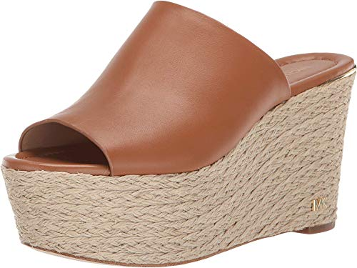 Michael Michael Kors Womens Cunningham Leather Open Toe Casual, Acorn, Size 9.0