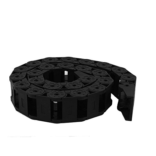 Black Semi Closed Plastic Drag Chain Wire Carrier 25mm x 38mm Copapa (0 Cable Carrier)