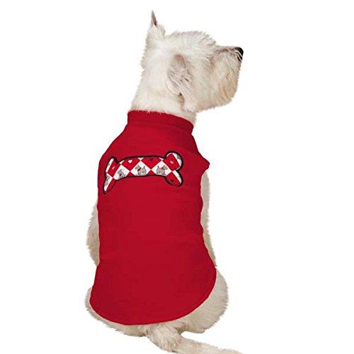 Zack & Zoey Sweet Scottie Fleece Vest, Small, Red