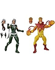 Hasbro Marvel Legends Series 6-inch Collectible Marvel's Rogue and Pyro Action Figure Toys, Premium Design and 6 Accessories