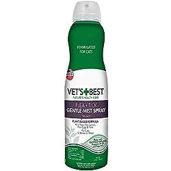 Vet's Best Flea & Tick Gentle-Mist Spray for Cats | Flea Killer with Certified Natural Oils | Gentle-Mist Spray for Easy Application & Control | 6.3 oz