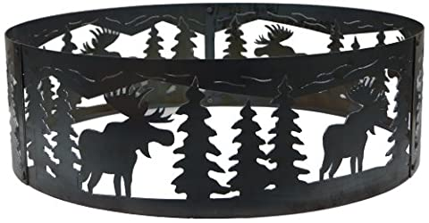P&D Metal Works Moose Fire Pit Ring (Moose Fire Pit Ring)
