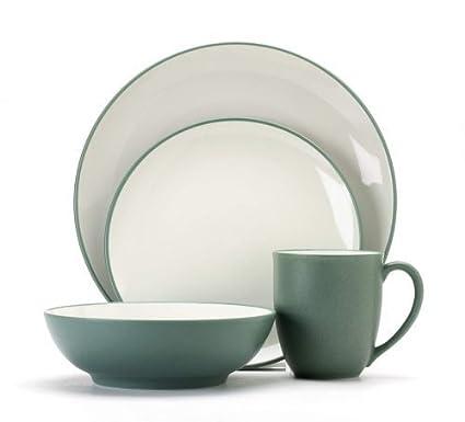 Amazon.com: Noritake Colorwave Green 16-Piece Dinnerware Set ...