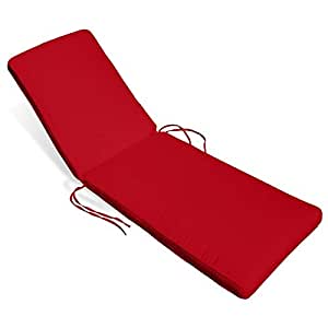 compamia Sunrise Chaise Lounge cojín en logotipo rojo