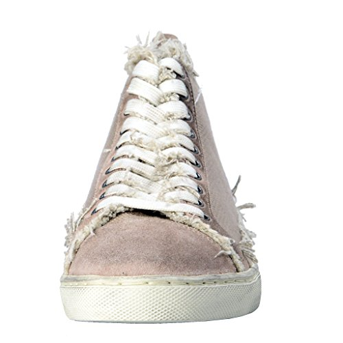 Leather Canvas Shoes Dolce amp; Sneakers Beige Women's Gabbana Fashion gnnfqO