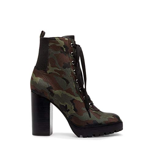 Steve Madden Women's Latch Camouflage Bootie Casual 7.5 US
