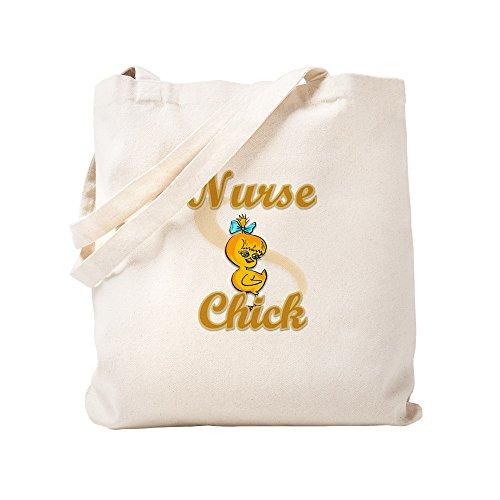 Nurse Chick - CafePress - Nurse Chick #2 - Natural Canvas Tote Bag, Cloth Shopping Bag