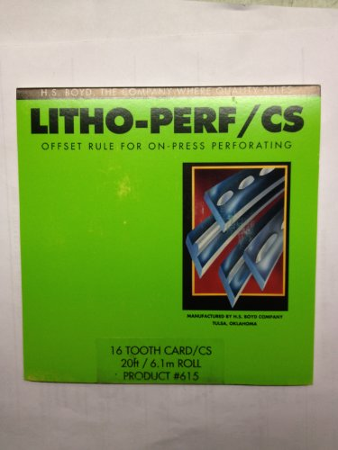 H.S. Boyd Litho-Perf #615 Offset Rule / CS 16 tooth Card - Center Series - 20 foot roll